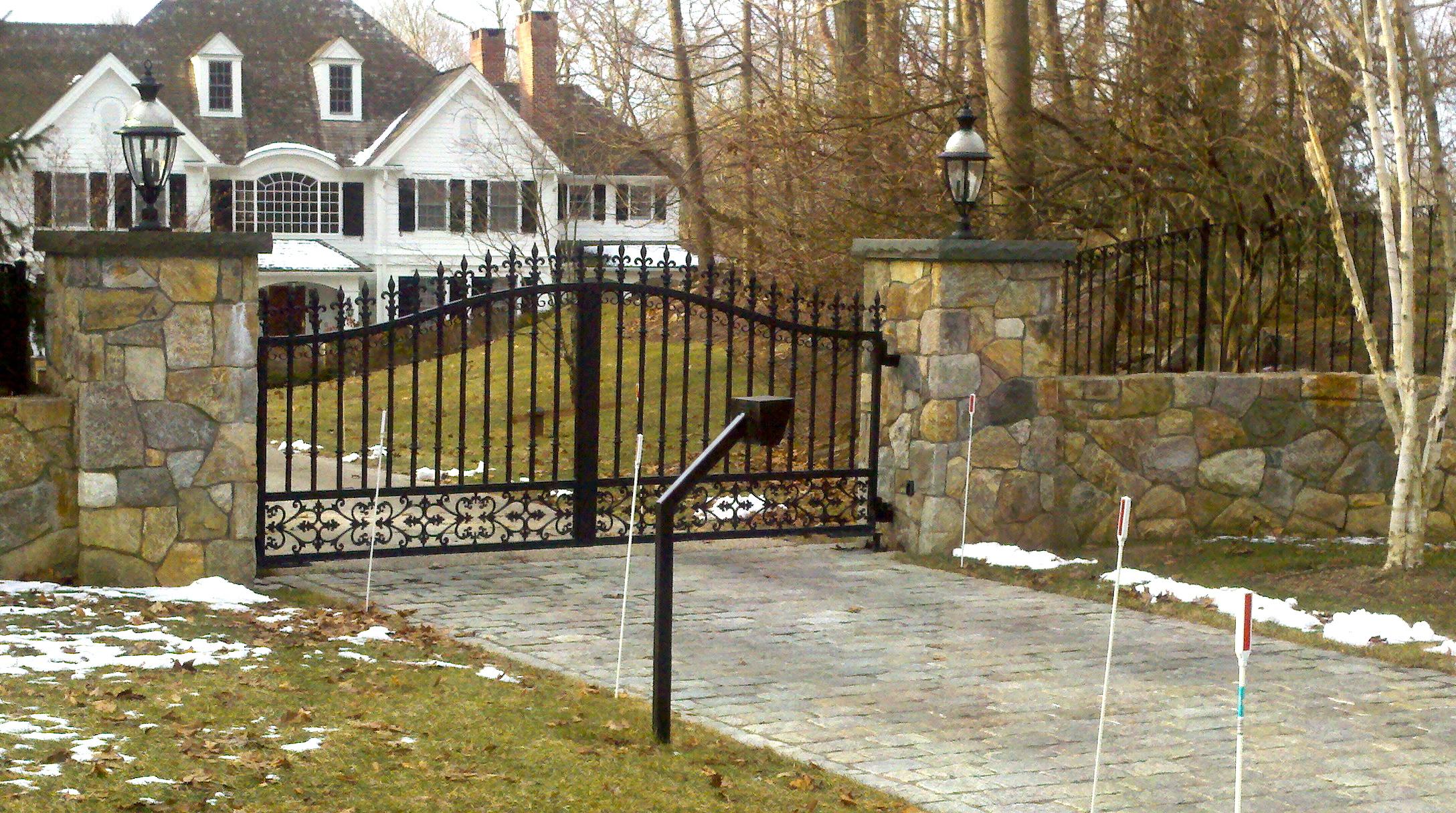 Red Fox Fence Ornamental Iron Gate