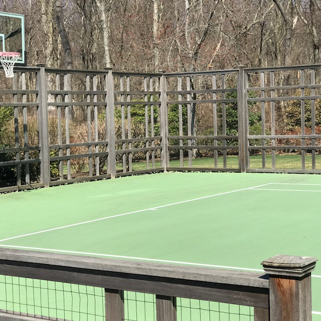 Red Fox Fence tennis court fencing