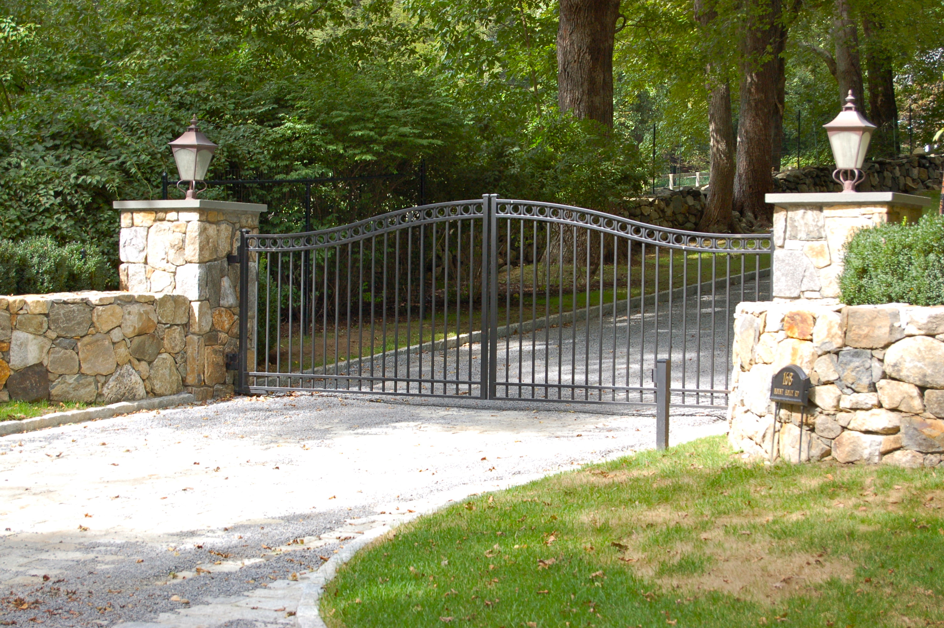 Red Fox Fence Wrought Iron Driveway Gate