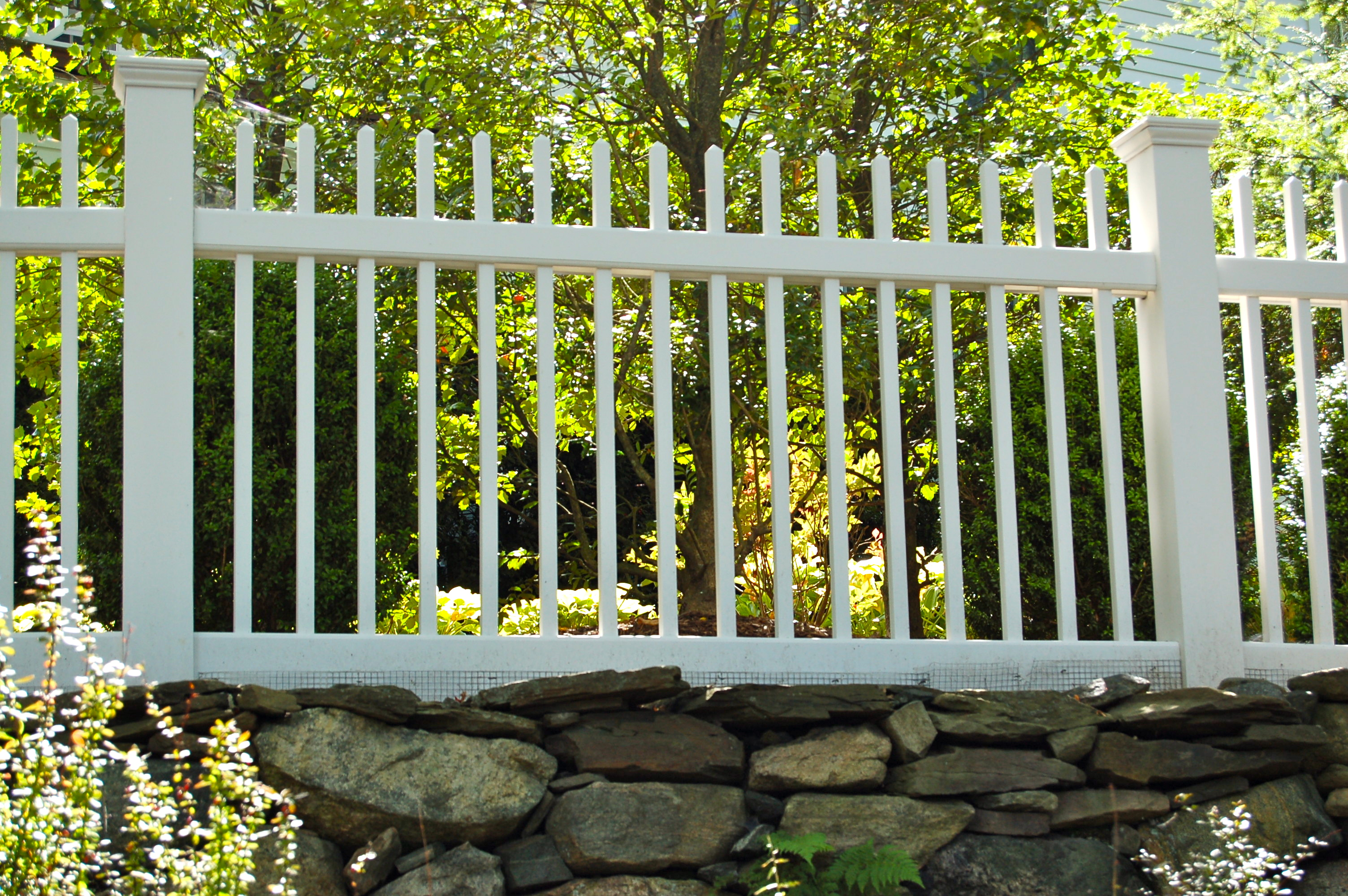 Red Fox Fence White Picket Fence