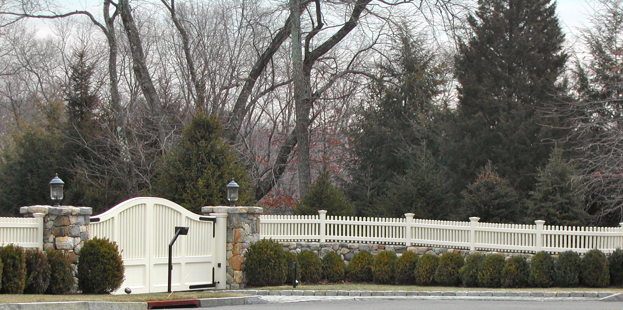 Red Fox Fence Beautiful White Picket Driveway Gate